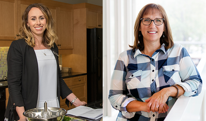 Photos of Registered dietitian Jennifer Gashinski and program participant Patti Simko.