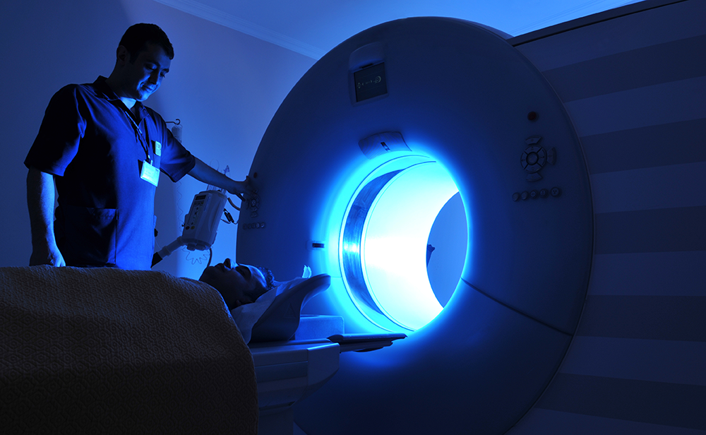 Photo of an MRI being performed