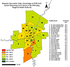 Thumbnail image with link to map of immunization rates by neighbourhood
